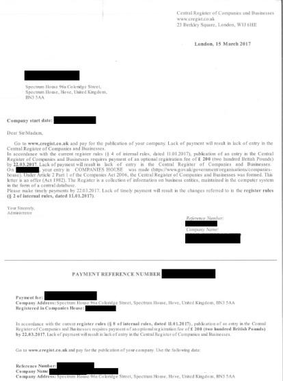 Scam letter 2